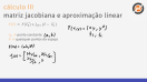 Aproximação linear e matriz jacobiana - Teoria