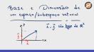 Base e dimensão - Video