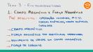 Campo magnético e força magnética - Teoria