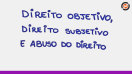Direito objetivo, direito subjetivo e abuso do direito - Teoria