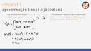 Aproximação linear e matriz jacobiana - Exercício