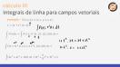 Integrais de linha para campos vetoriais - Teoria