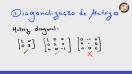 Introdução ao processo de diagonalização - Video