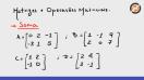 Matrizes e operações matriciais elementares - Teoria