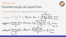 Parametrização de superfícies - Teoria