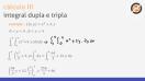 Revisão: Integração dupla e tripla - Teoria